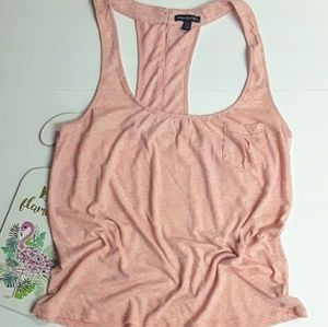 American Eagle Pink Marled Loose Tank Top Large